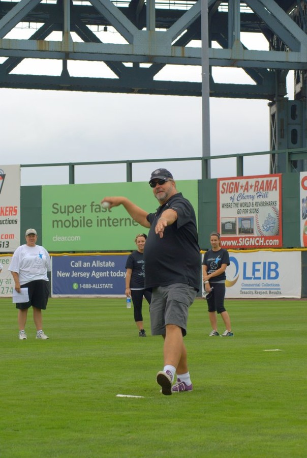 WMGK Radio's Ray Koob throwing out the First Pitch